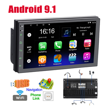 Android 2 Din 7 inch Car Stereo Radio Player Touch Screen Car Media GPS Player Autoradio Bluetooth for VW Nissan Hyundai Toyota image