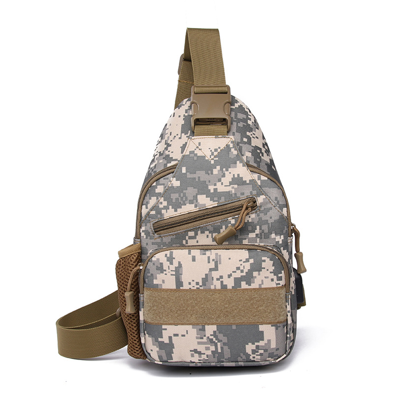 Outdoor Camouflage Pitcher Chest Pack Tactical Shoulder Shoulder Bag Army Fans Water-Resistant Sports Backpack Takeaway Purse