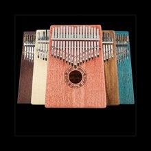17 клавиш, калимба, большой палец, пианино, калимба, большой палец, на пианино, красное дерево, тело, музыкальный инструмент для начинающих
