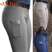HYHG Horse Riding Breeches Solid Color Stretch Pants European and American Nobles Mountaineering Camping Outdoor Riding Trousers