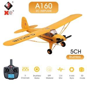 Wltoys xk a160 rc avião 650mm wingspan 5 canais de controle remoto avião 3d/6g 1406 brushless motor rc avião para criança adulto