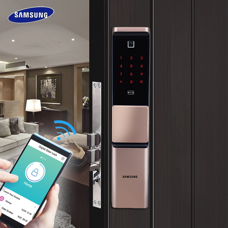 2019 NEW SAMSUNG Fingerprint Digital Wifi Door Lock IoT Keyless SHP-DR719 Big Moritse