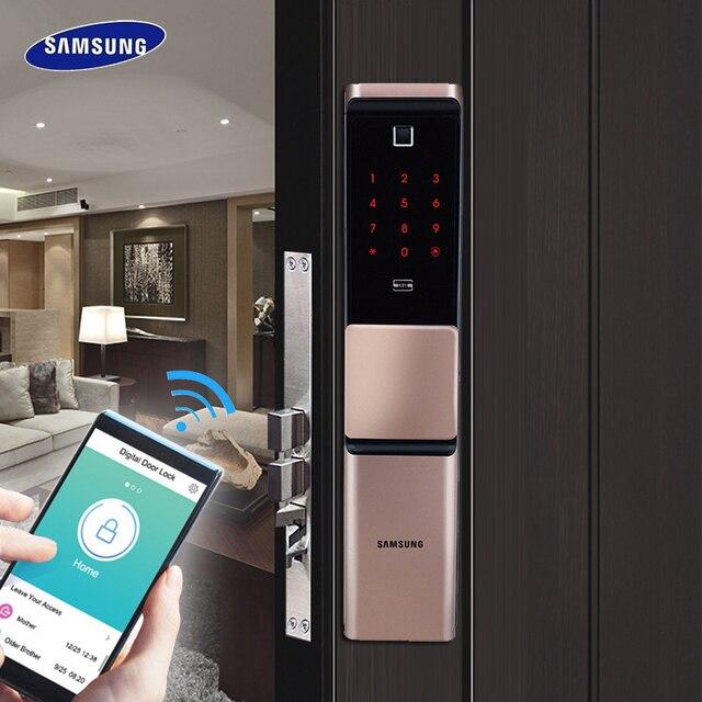 2019 Nieuwe Samsung Vingerafdruk Digitale Wifi Deurslot Iot Keyless SHP DR719 Grote Moritse