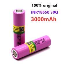 100% original 3.7v 3000mah para samsung inr 18650 inr18650 30q bateria li-ion descarga 15a baterias recarregáveis lanterna