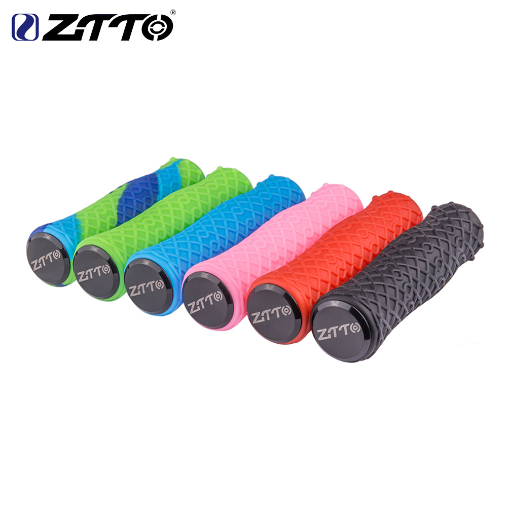 ZTTO MTB Bike 1Pair Cycling Lockable Handle Alloy Rubber Grip Anti slip Grips