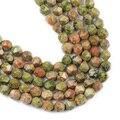 Натуральные крупные граненые фотобусины YHBZRET для изготовления ювелирных изделий, размеры 8 мм, 44 шт., фурнитура для ожерелья и браслетов