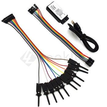 1 lot test hook clip Logic analyzer test folder For Jumper Wire Dupont Cable for USB Saleae 24M 8CH