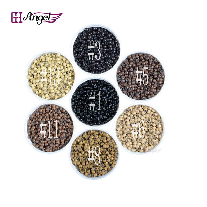 1000pcs/jar 3.0mm nano Ring copper silicone beads hair extension tools nano micro tube ring For Nano TIp Hair Extensions