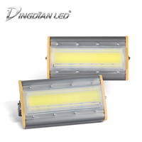 50W Waterproof Spotlight LED Flood Light AC220V Outdoor COB Floodlight Projector Reflector Lamp Construction Lamp Cast Lighting|Floodlights| |  -
