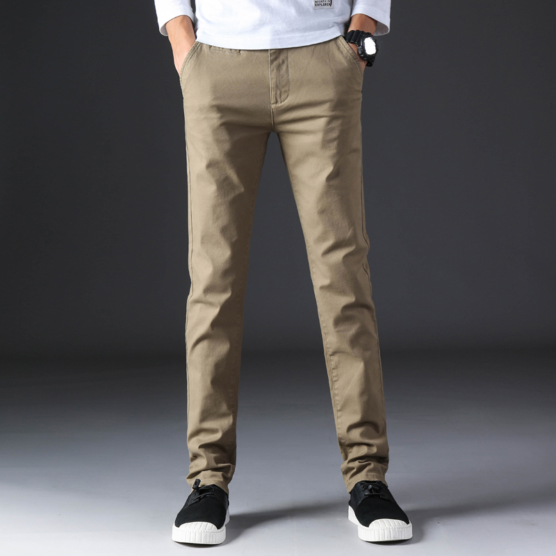 KSTUN 2020 Spring Summer New Casual Pants Men Cotton Slim Fit Chinos Fashion Trousers Male Brand Clothing Basic Mens Pants 9
