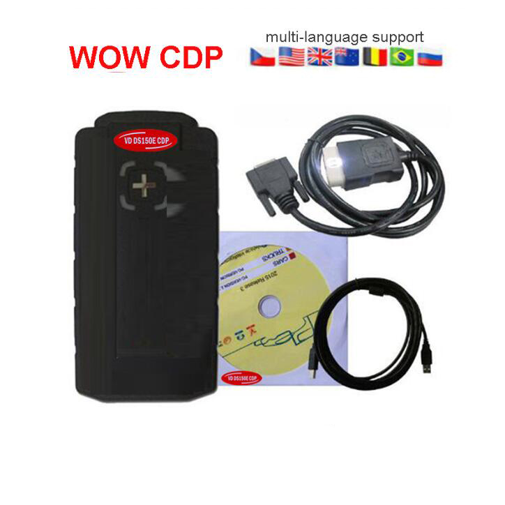 Wow cdp Mit bluetooth usb led kabel OBD2 OBDII autos und lkw vd tcs cdp für delphis vdijk autocoms pro obd2 dignostic werkzeug