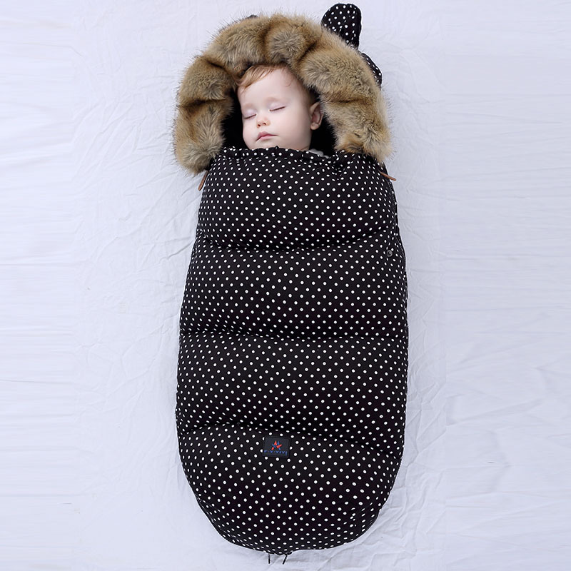 Newborn Baby Stroller Sleeping Bag Thicken Warm Infant Stroller Footmuff Wheelchair Winter Warm Sleepsacks Envelope Sleepsacks