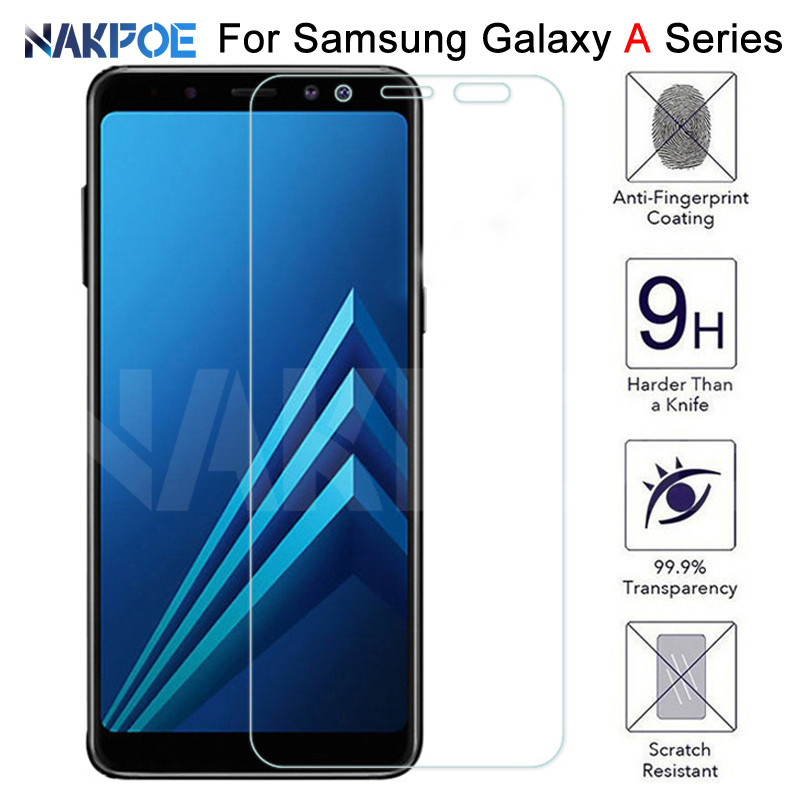 9H HD Tempered Glass On The For Samsung Galaxy A3 A5 A7 2015 2016 2017 A6 A8 Plus A9 2018 Screen Protector Protective Glass Film
