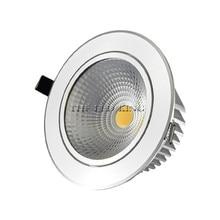 Светодиодный точечный светильник с регулируемой яркостью COB Потолочный светильник AC85-265V 3 Вт 5 Вт 7 Вт 9 Вт 12 Вт 15 Вт алюминиевый встраиваемый ...