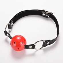 PU Leather Band Ball Mouth Gag Oral Fixation mouth stuffed Adult Games For Couples Flirting Torture Bdsm Bondage Teasing