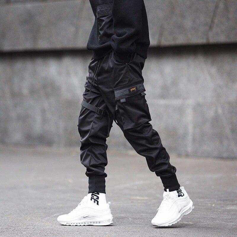 Hip Pop Cargo Pants Men Black Pocket Harem Joggers Harajuku Sweatpant Casual Fashion Men Trousers Streetwear Sweatpants Hombre 1