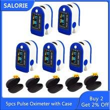5pcs oxímetro oxímetro oxigênio no sangue monitor de pulso monitor de saturação de oxigênio oled freqüência cardíaca