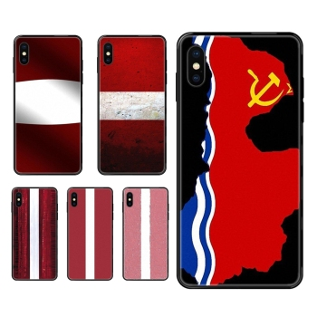 Art Diy Luxury Black Soft Phone Case Best Looking Latvia Flag For Redmi Note 4 5 5A 6 7 8 8T 9 9S Pro Max image