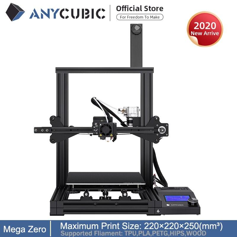 ANYCUBIC Mega Zero DIY 3D Printer 3D Printing Metal Frame Impresora 3D 220 220 250mm     FDM 3D Printers