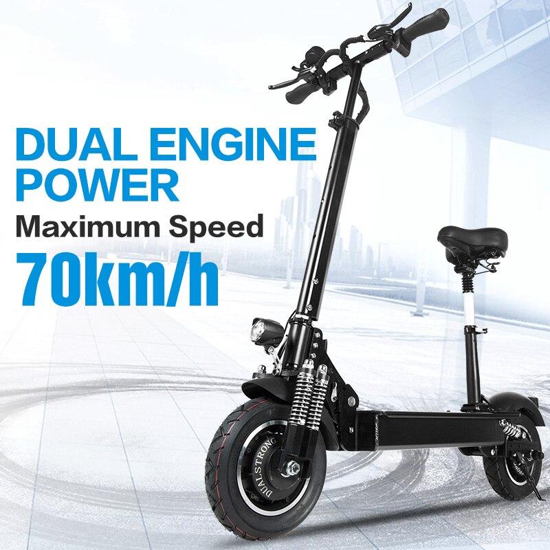 Janobike scooter Elettrico doppio drive52V 2000W con sedile 10 pollici pneumatico stradale pieghevole pedale del motociclo elettrico adultfree consegna
