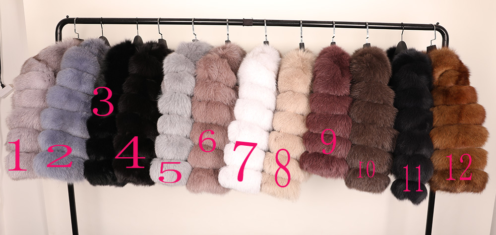 maomaokong 50CM Natural Real Fox Fur CoatWomen Winter natural fur Vest Jacket Fashion silm Outwear Real Fox Fur Vest Coat Fox 13