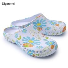 Zapatillas médicas para sala de estar, calzado para quirófano, zuecos de enfermería, zapatos antideslizantes, zapatillas ortopédicas, zuecos de enfermera