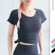 Fitness Sports Yoga Shirts Women Seamless Sport Shirt Sports Wear For Women Gym Running Top Short Sleeve Yoga Workout Tops цены