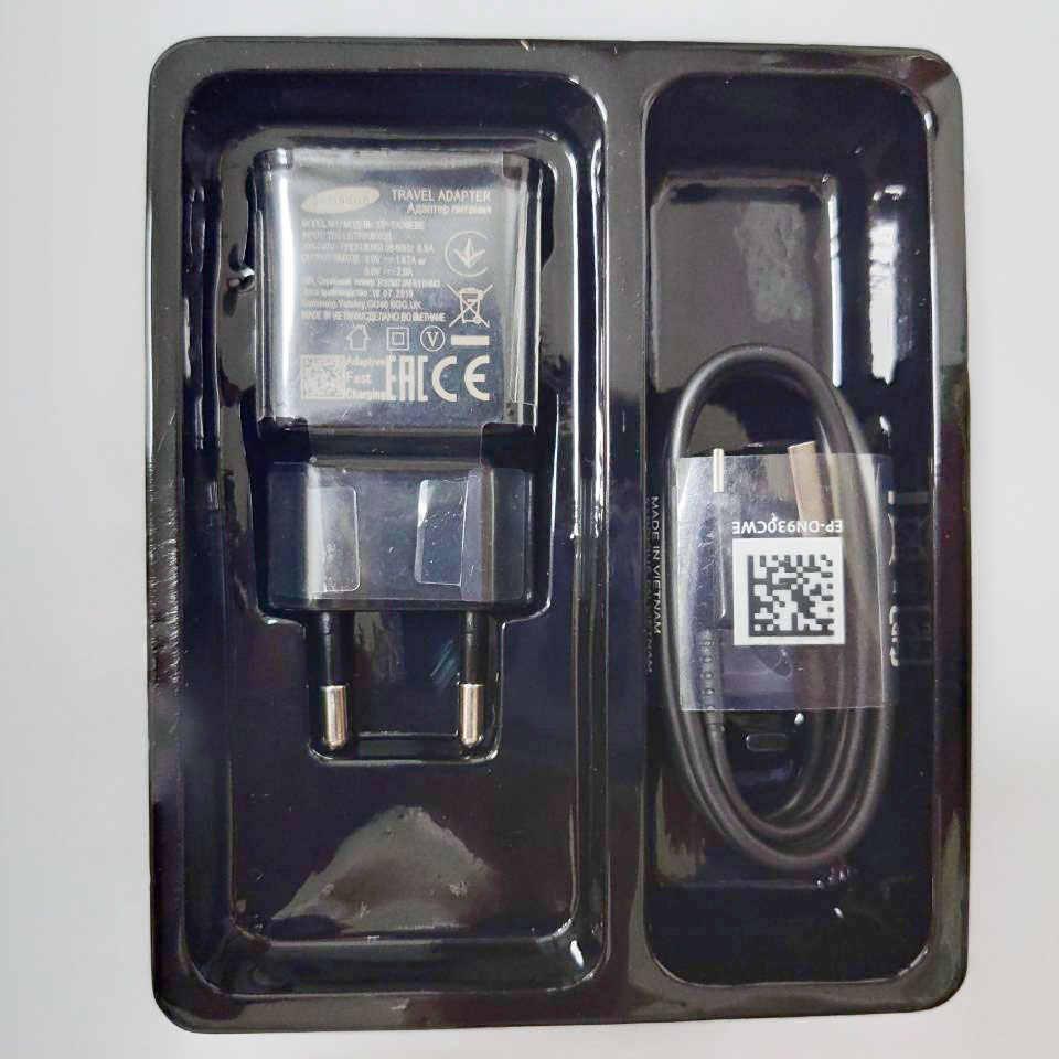سامسونج غالاكسي S8 s9 plus التكيف شاحن سريع الاتحاد الأوروبي 9 فولت 1.67A USB محول سريع نوع C كابل ل نوت 8 9 A8 2018 A50