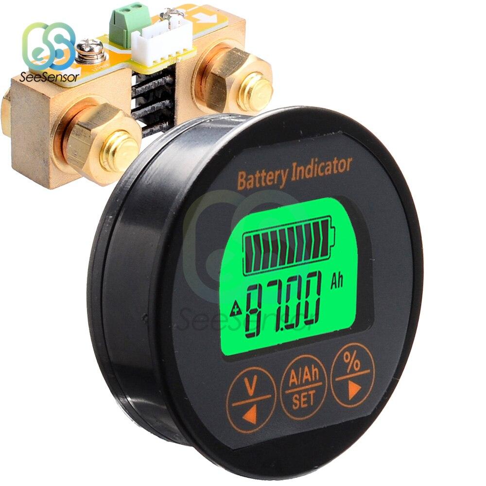 Dc 8-80 v 50a 100a 350a bateria tester tensão atual medidor de capacidade da bateria monitor indicador amperímetro voltímetro