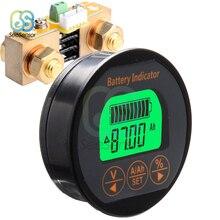 Medidor de voltagem dc 8 80v, bateria de 50a 100a 350a, testador de voltagem, medidor de corrente, capacidade da bateria, monitor indicador, amperímetro