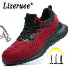 Safety Shoes Boots For Men Male Autumn Breathable Work Steel Toe Indestructible Sneakers