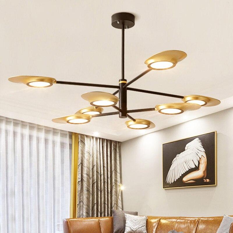 Modern LED Pendant Light Post Modern Fan-style Hanging Lamps Living Room Dining Room Kitchen Designer Lighting