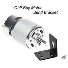 775 DC 12V 24V Brush Motor High Speed 5000/10000/12000rpm Gift Bracket CW&CCW Mini Brush Motor with Bearing for DIY Driver Parts стоимость