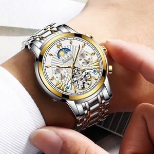 Image 5 - LIGE montre mécanique automatique pour homme, montre dorée pour homme, magasin officiel, marque supérieure de luxe