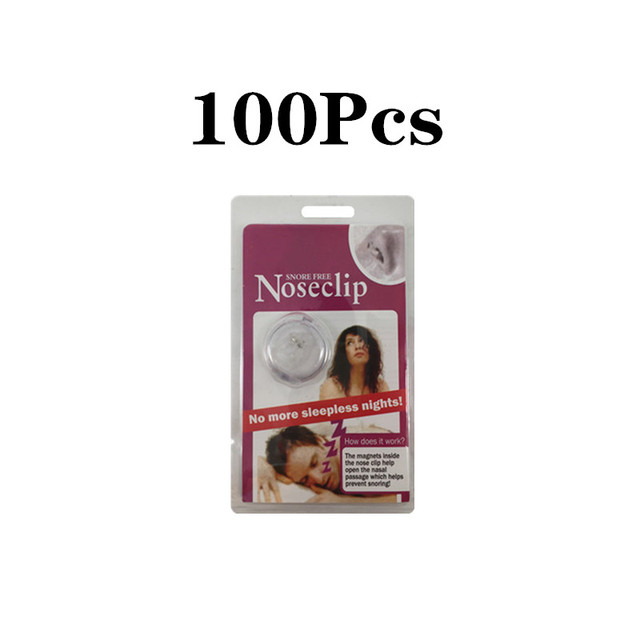 100 adet Anti horlama cihazı sıcak satış horlama durdurma burun mandalı silikon manyetik uyku gürültü koruma kılıfı