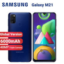 Samsung galaxy m21 m215f da versão global/telefone móvel 6000mah sim duplo 64gb 4gb 6.4