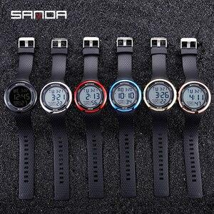 Image 5 - עמיד למים הדיגיטלי שעון מעורר גברים שעון תאריך שבוע תצוגת ספורט אלקטרוני שעונים Luminacence מצבי relogio masculino SANDA