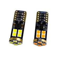 Lumière de plaque d'immatriculation latérale tournant, ampoules de dégagement de stationnement blanc rouge ambre 12 SMD 100 canbus 12V-24V T10 3030 W5W 168 pièces