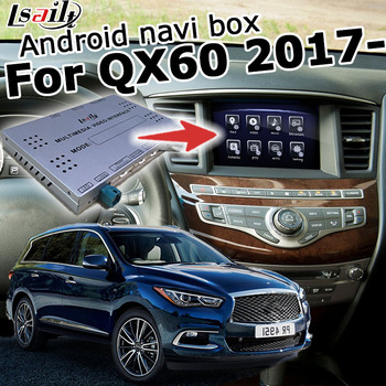 Android / carplay interface box for Infiniti QX60 Pathfinder R62 2017 video interface box with GPS navigation waze by lsailt image