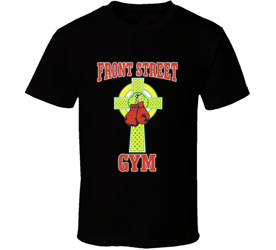 Front Street Gym Boxing Creed Rocky Balboa Movie T-Shirt Street Plus Size Tops Tee Shirt image