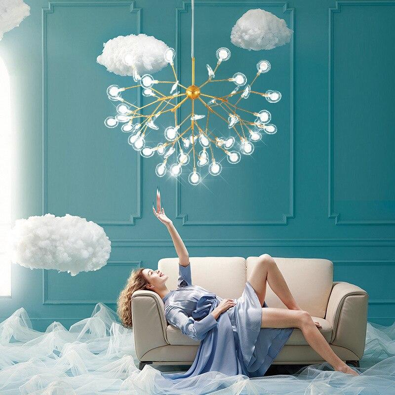 Salon lampadaire moderne salle à manger lustre moderne simple chambre concepteur vêtements magasin lampe net rouge lampe