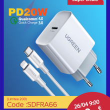 Pd-Charger Usb-Type QC3.0 UGREEN iPhone Xiaomi 20W 1 for 12-X-Xs/8