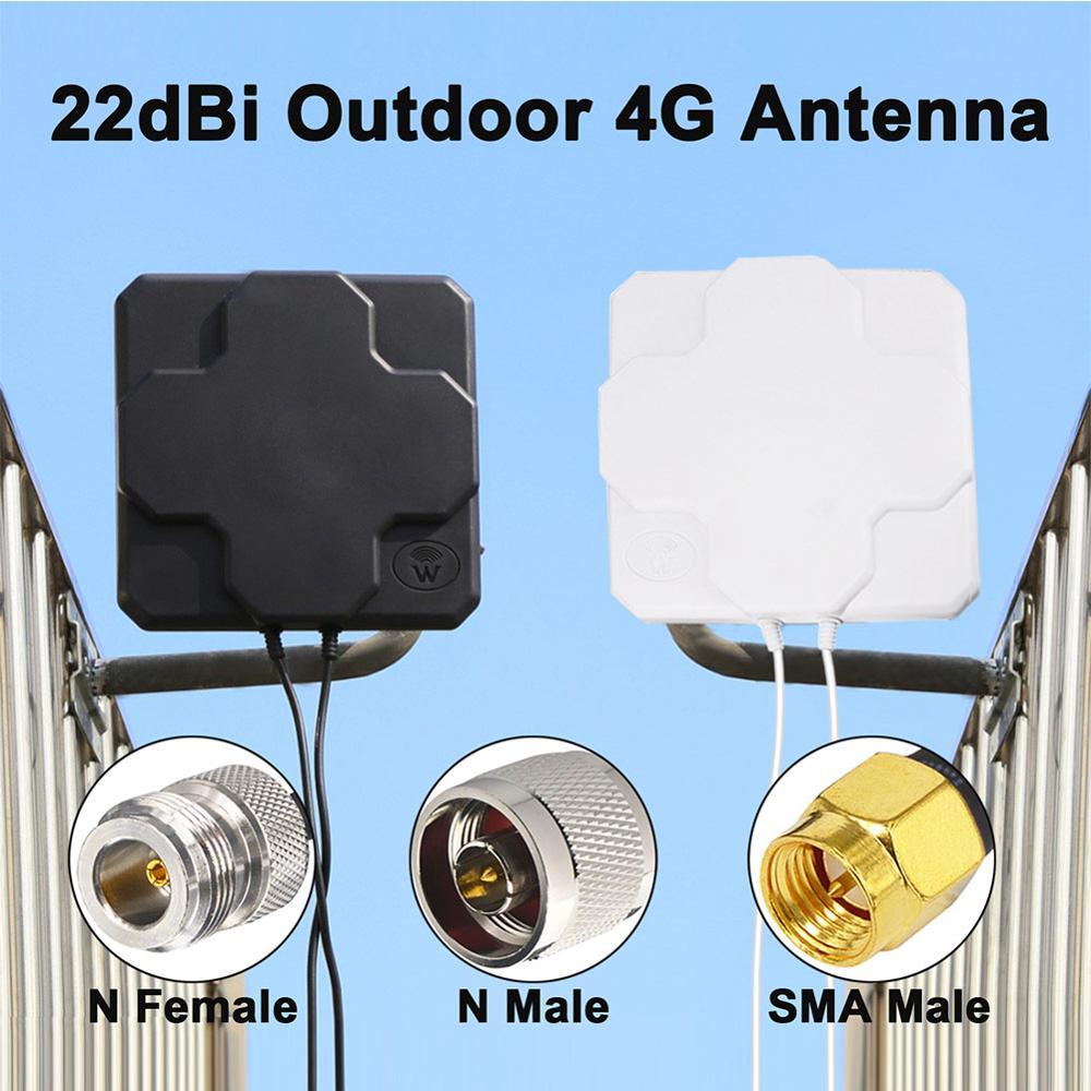 2*22 дБи наружная 4G LTE MIMO антенна двойная поляризационная Панель Направленная внешняя антенна N папа/N мама/SMA Папа 30 см кабель