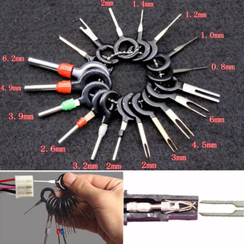 26pcs Automotive Plug Terminal Remove Tool Kit Circuit Board Wire Harness Terminal Extraction Wire Crimp Connector Extractor Kit plcc ic chip extractor motherboard circuit board component puller tool new