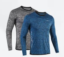Professional Long-sleeved Home Gym T-Shirts Sports Fitness Running Tops Breathing Quick-drying Tees Sportswear For Men