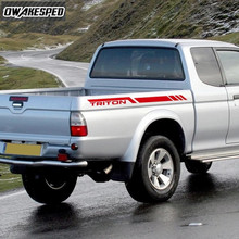 עבור מיצובישי L200 טנדר תא מטען דקור מדבקת אביזרים חיצוני מכונית טריטון מרוצי ספורט פסים
