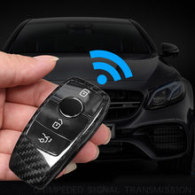 Cubierta de fibra de carbono auténtica para llave de coche, embellecedor para Mercedes benz A C E G S GLE GLC clase W177 W205 W213 W167 W222 W463 x253accesoria