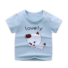 T-Shirt Baby Tops Clothing Cotton Summer Casual Child Short 9m-6years Human-Printed Kids