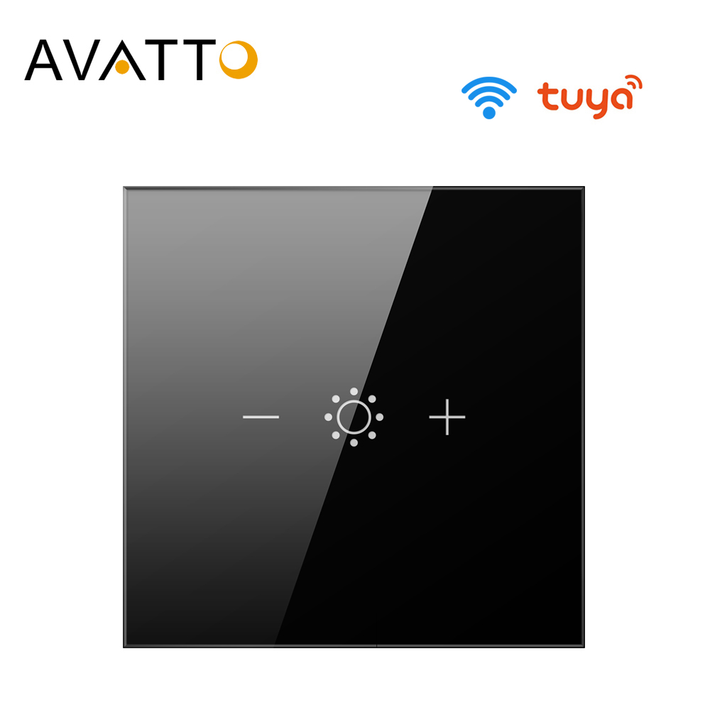 AVATTO Tuya Led Touch  Wifi Dimmer Light Switch Smart Strip Bulb Dimmer Switch with APP Voice Remote for  Alexa Google Home