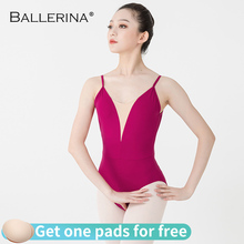 Ballerine ballet justaucorps femmes aéraliste pratique danse Costume profond V fronde noir gymnastique justaucorps Adulto 5099